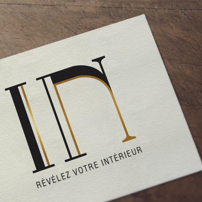 Logo décoratrice d'intérieur IN
